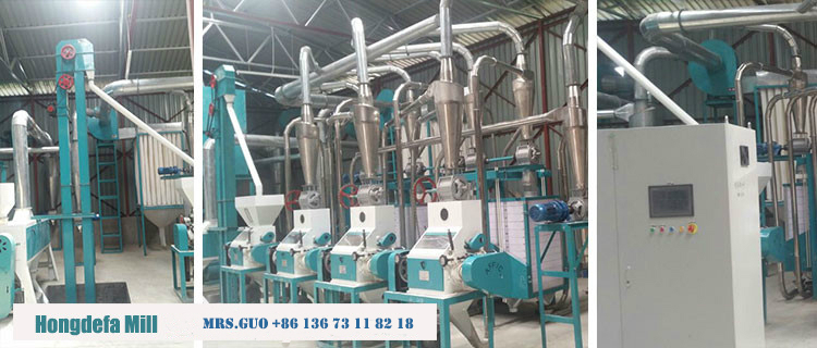 maize mill line with complete line with cleaning milling packing