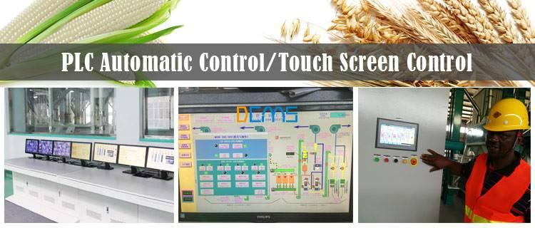 plc and touch screen control system in milling machines flour mill maize mill
